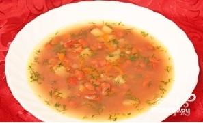 Суп фасолевый с копченостями - фото шаг 11