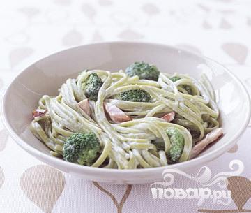 Рецепт Паста с ветчиной и брокколи