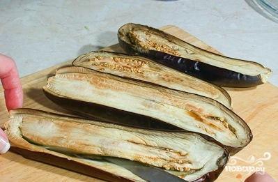 Рецепт Лодочки из баклажанов с овощами
