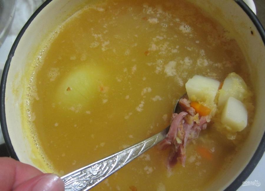 Суп на копченых ребрышках - фото шаг 7