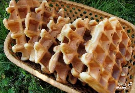 Рецепт Бельгийские вафли без яиц