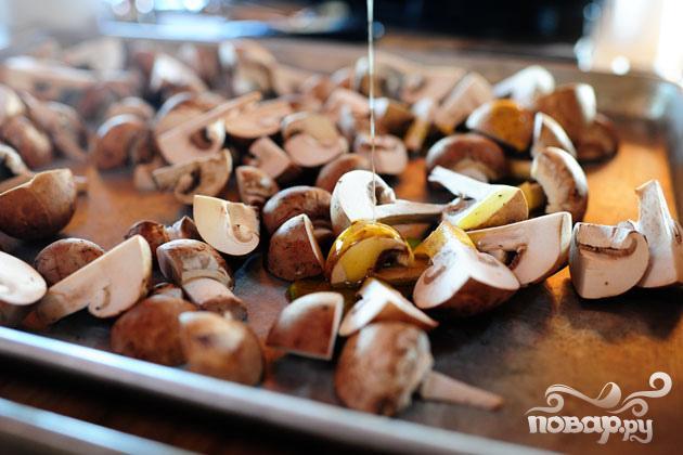 Страта с капустой кале и колбасой - фото шаг 2
