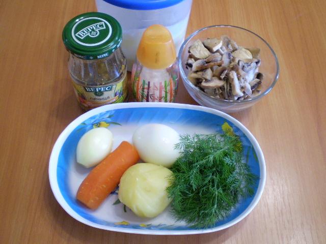 Салат с картошкой и грибами - фото шаг 1