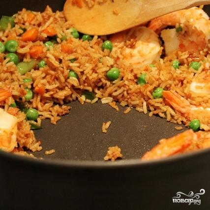 Креветки с рисом - фото шаг 8
