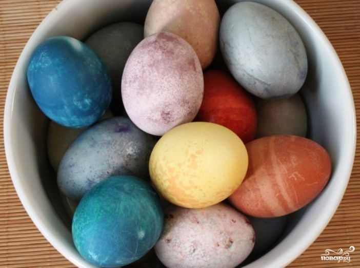 Красивые яйца на пасху