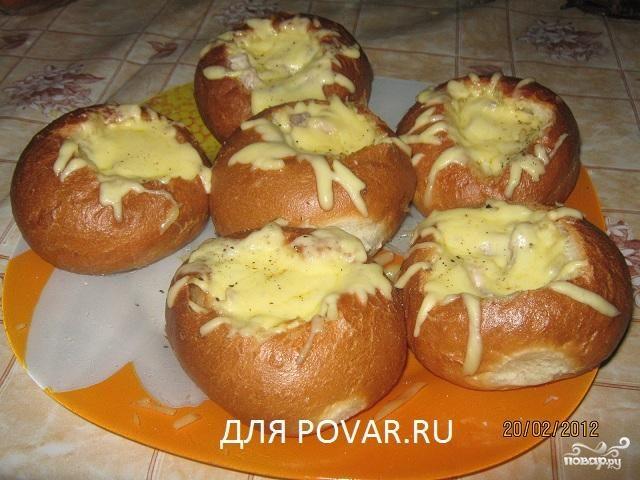 Рецепт Жульен в булочке