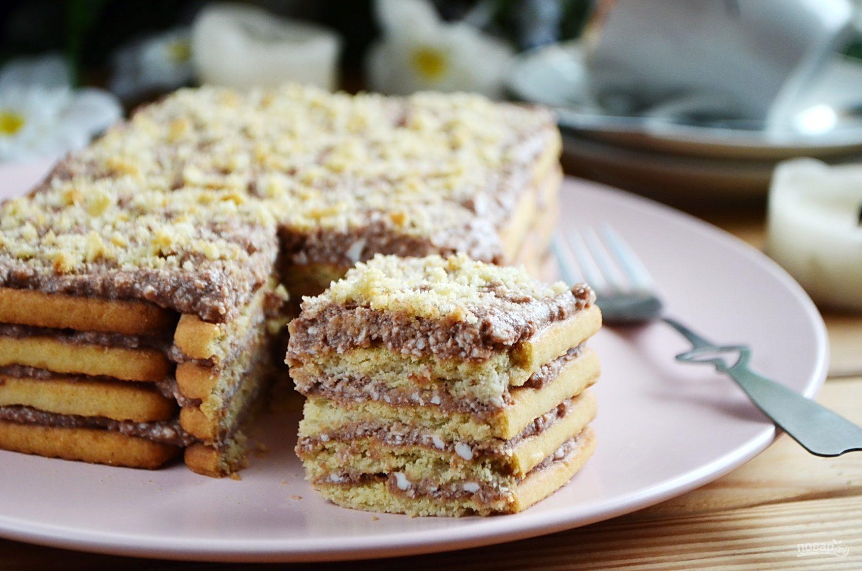 торт без выпечки из творога рецепт с фото