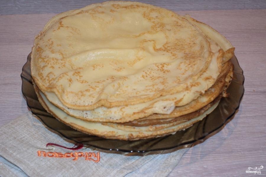 Блинный пирог с фаршем - фото шаг 1