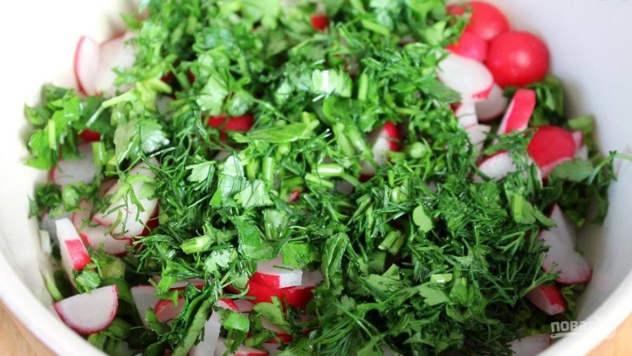 Свежий салат с плавленым сырком - фото шаг 3
