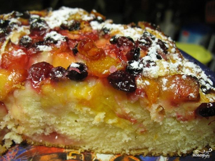 Пирог с ягодами рецепт пошагово в духовке