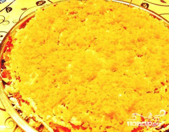 Слоеный салат с водорослями - фото шаг 5