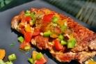 Свинина, фаршированная грибами и сыром