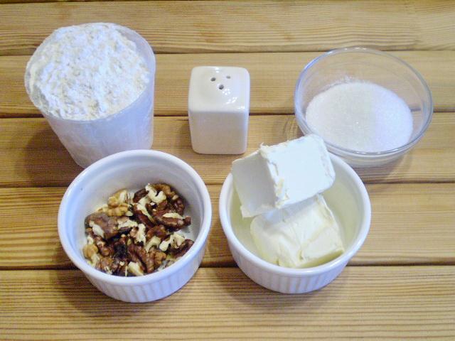 Рецепт Песочное печенье с орехами