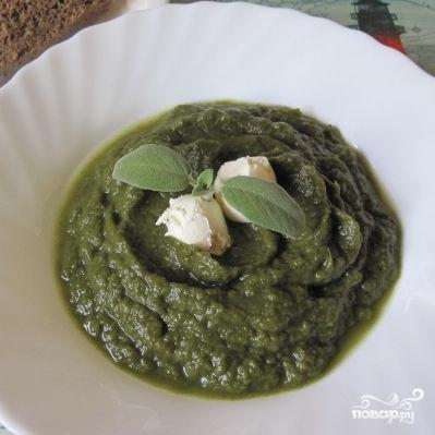 Крем-суп из шпината с сельдереем и капустой - фото шаг 4