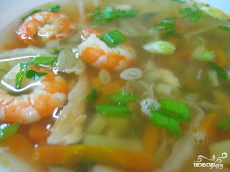 Суп из семги с креветками - фото шаг 6
