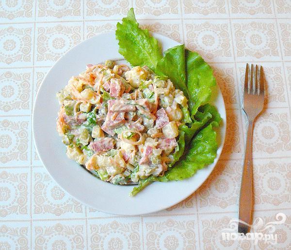 Салат с колбасой - фото шаг 5