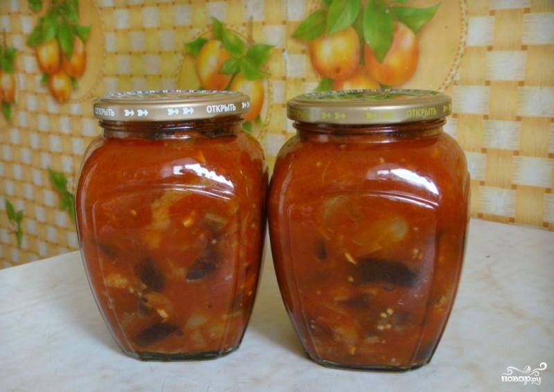 Баклажаны в томатно-чесночном соусе на зиму