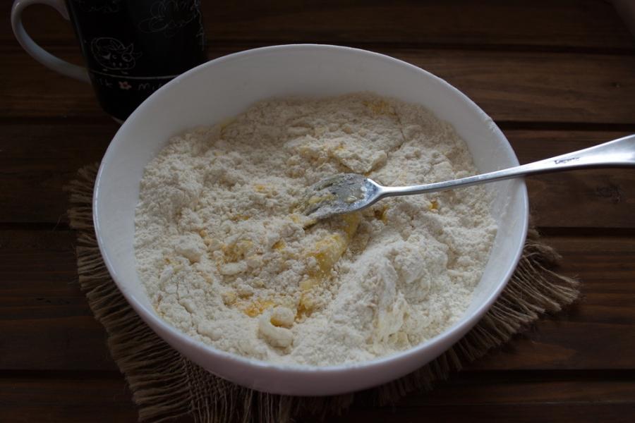 Печенье на сметане с кунжутом - фото шаг 3