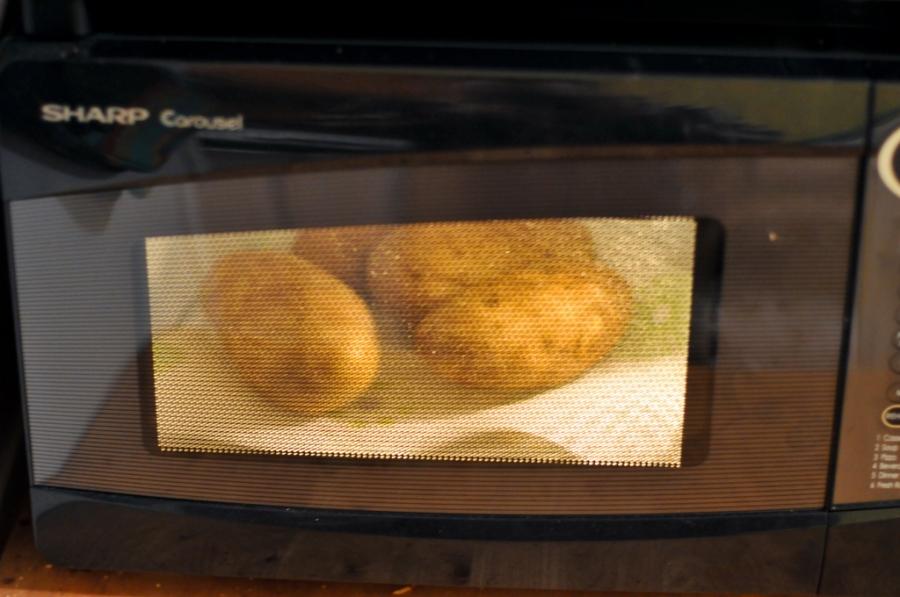 Рецепт Картошка с салом на мангале