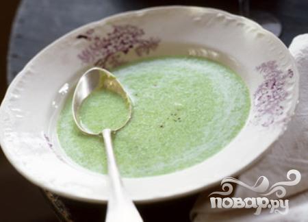 Суп из лука и горошка