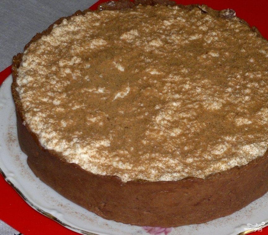 Шоколадно-банановый торт - фото шаг 4