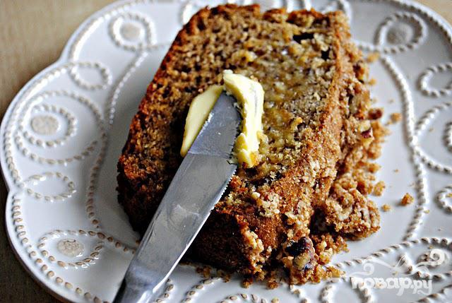 Банановый хлеб с корицей и орехами - фото шаг 8