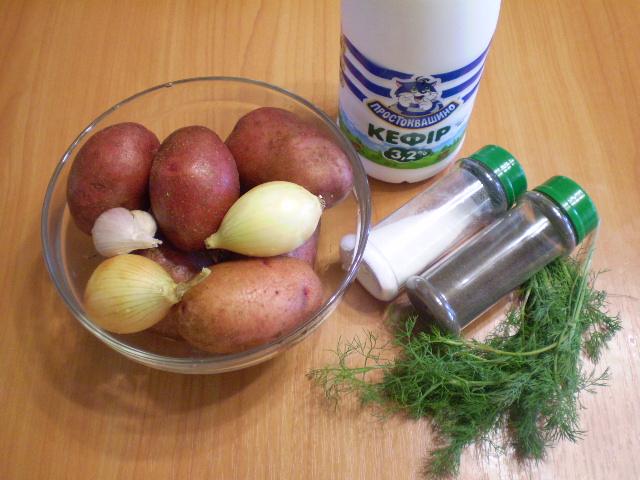 Рецепт Картошка в кефире в духовке