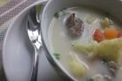 Сырный суп с говядиной