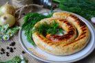 Куриные колбаски с сыром для гриля