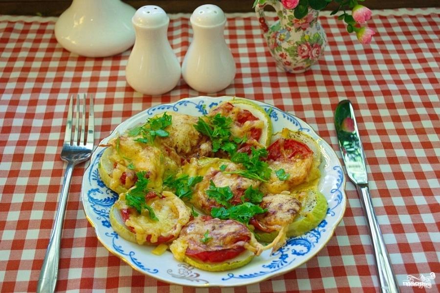 Рецепт кабачков с помидорами и картошкой в духовке