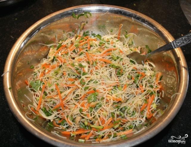 Спринг роллы с овощами - фото шаг 5
