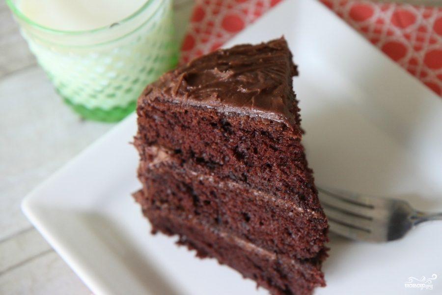 Рецепт Шоколадный миндальный листовой торт