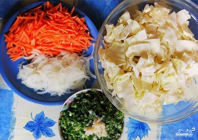 Салат из капусты по-корейски - фото шаг 1