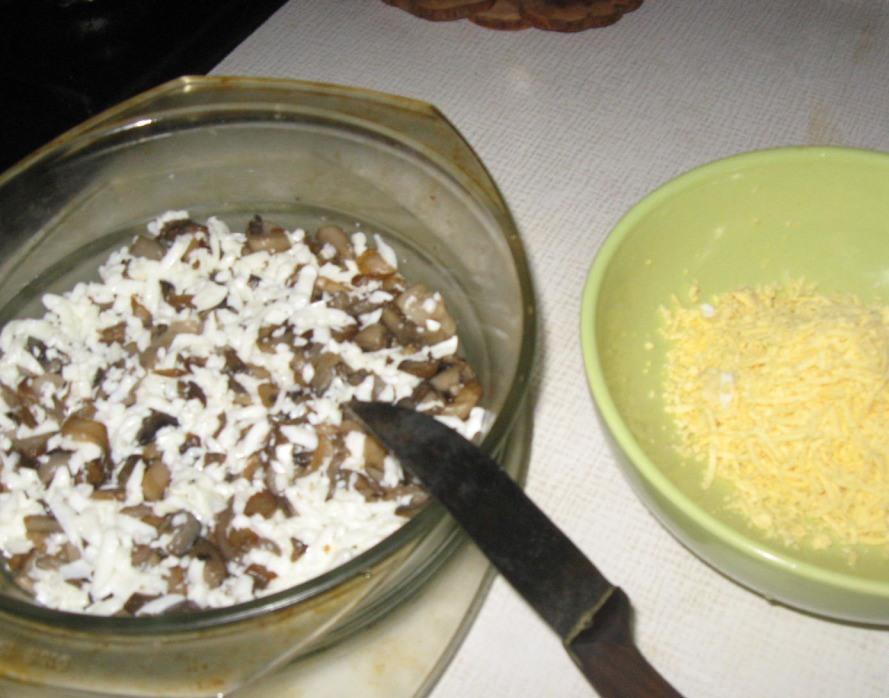 Рецепт Легкий салат с грибами