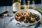 Салат из кальмаров и авокадо