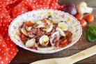 Сытный мясной салат