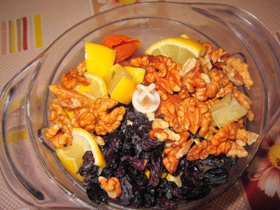 Рецепт сухофрукты с медом