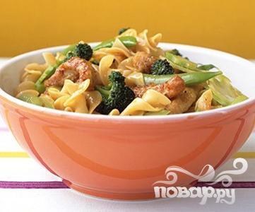 Рецепт Свинина с лапшой по-азиатски