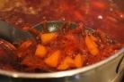 Свекольник горячий с мясом