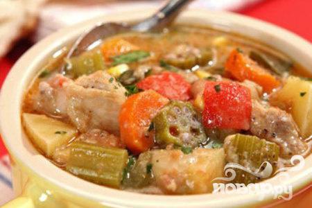 Рецепт Жаркое из курицы, картофеля и сельдерея