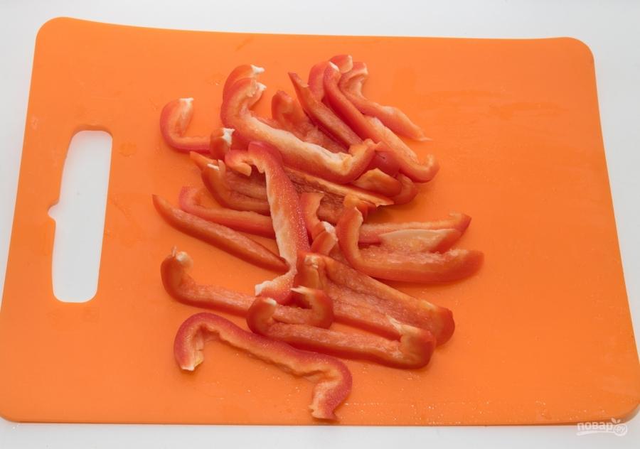 Жареные кальмары с овощами - фото шаг 3