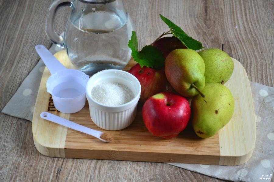 Яблоки и груши маринованные - фото шаг 1