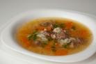 Суп из говядины с рисом и овощами