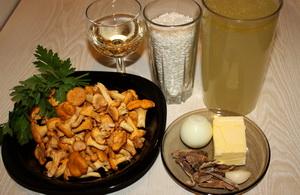 Рецепт Лисички, жареные с рисом