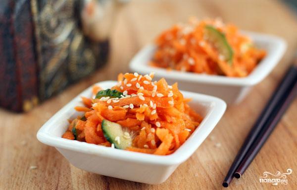 Острый салат из моркови - фото шаг 6