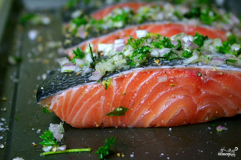 Запеченное филе лосося - фото шаг 2