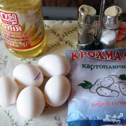 Рецепт Яичные блинчики