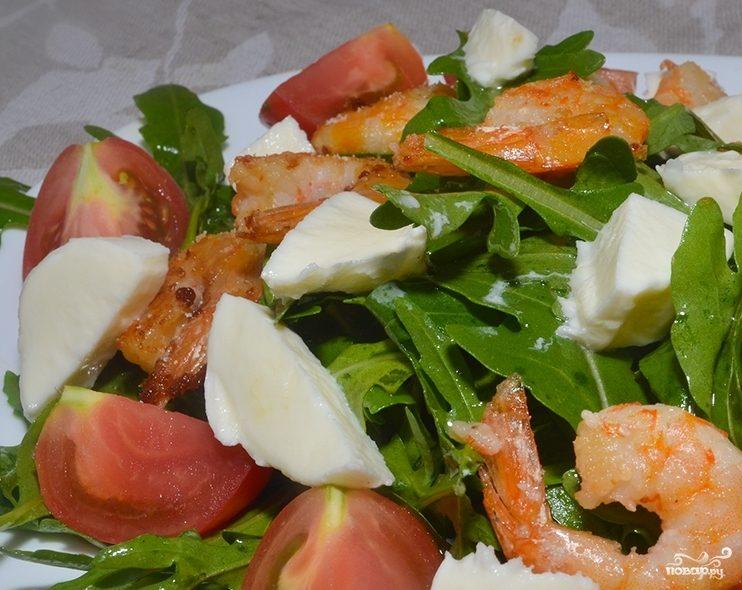 вкусный салат с креветками и сыром рецепт