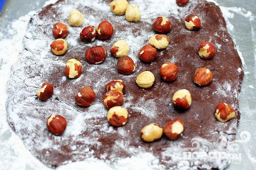Шоколадное печенье с фундуком - фото шаг 2