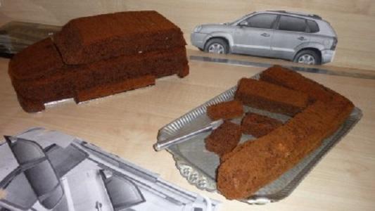 Торт-машина пошагово из мастики